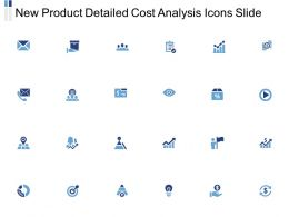 New Product Detailed Cost Analysis Icons Slide Growth L443 Ppt Powerpoint Ideas