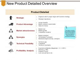 New Product Detailed Overview Powerpoint Images