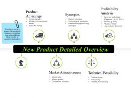 New Product Detailed Overview Ppt Infographics