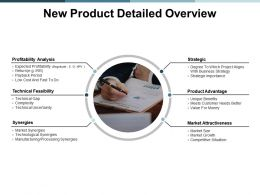 New Product Detailed Overview Ppt Powerpoint Presentation Layouts Maker