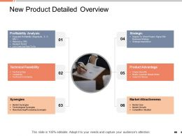 New Product Detailed Overview Profitability Analysis Ppt Powerpoint Presentation Icons
