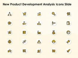 New Product Development Analysis Icons Slide L1135 Ppt Designs