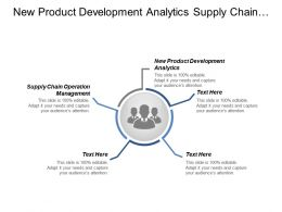 New Product Development Analytics Supply Chain Operation Management Cpb