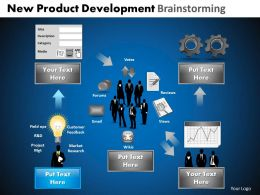 New Product Development Brainstorming Powerpoint Slides And Ppt Templates DB