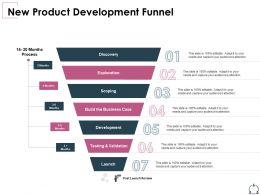 New Product Development Funnel Business Case Ppt Powerpoint Presentation Ideas