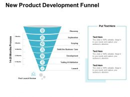 New Product Development Funnel Business Case Ppt Presentation Pictures Microsoft