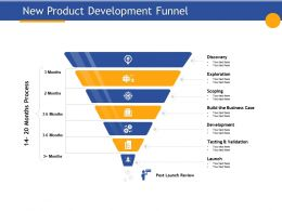 New Product Development Funnel Exploration Ppt Presentation Background Image