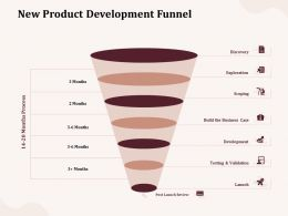 New Product Development Funnel Launch Ppt Powerpoint Presentation Show Visuals