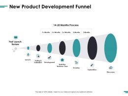 New Product Development Funnel Ppt Powerpoint Presentation Ideas Background Images