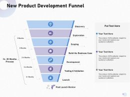 New Product Development Funnel Scoping Build Ppt Powerpoint Presentation Professional Backgrounds