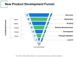 New Product Development Funnel Server Ppt Powerpoint Presentation Gallery Good