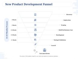 New Product Development Funnel Testing And Validation Ppt Powerpoint Presentation Summary