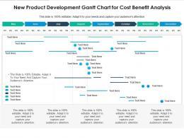 New Product Development Gantt Chart For Cost Benefit Analysis