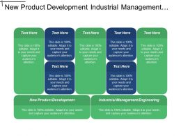 New Product Development Industrial Management Engineering Employment Change Cpb