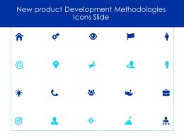 New Product Development Methodologies Icons Slide Idea Bulb Ppt Powerpoint Slides