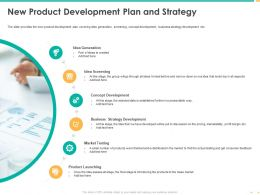 New Product Development Plan And Strategy Product Launching Ppt Graphics