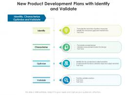 New Product Development Plans With Identify And Validate