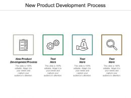 New Product Development Process Ppt Powerpoint Presentation Portfolio Graphics Template Cpb