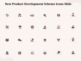 New Product Development Scheme Icons Slide Ppt Powerpoint Presentation Professional Icons