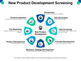New Product Development Screening Ppt Powerpoint Presentation File Example