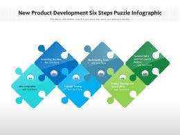 New Product Development Six Steps Puzzle Infographic