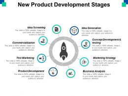 New Product Development Stages Ppt Powerpoint Presentation File Example File