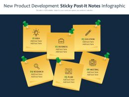 New Product Development Sticky Post It Notes Infographic