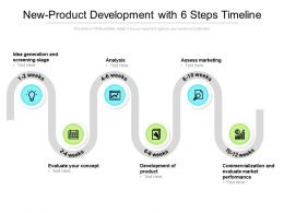 New Product Development With 6 Steps Timeline