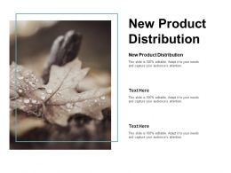 New Product Distribution Ppt Powerpoint Presentation Inspiration Clipart Cpb