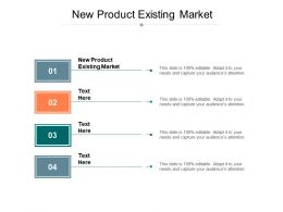 New Product Existing Market Ppt Powerpoint Presentation Styles Icon Cpb