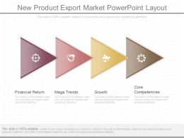 New Product Export Market Powerpoint Layout