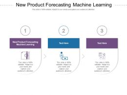New Product Forecasting Machine Learning Ppt Powerpoint Presentation Layouts Clipart Cpb