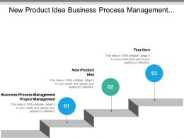 New Product Idea Business Process Management Project Management Cpb