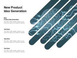 New Product Idea Generation Ppt Powerpoint Presentation Inspiration Clipart Cpb