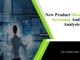 New Product Idea Screening And Analysis Powerpoint Presentation Slides