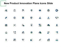 New Product Innovation Plans Icons Slide Checklist Ppt Powerpoint Presentation Gallery Graphics