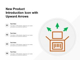 New Product Introduction Icon With Upward Arrows
