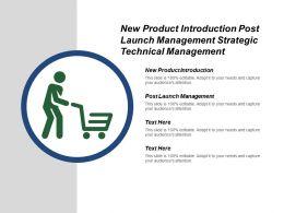 New Product Introduction Post Launch Management Strategic Technical Management