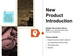 New Product Introduction Powerpoint Show