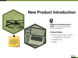 New Product Introduction Presentation Examples