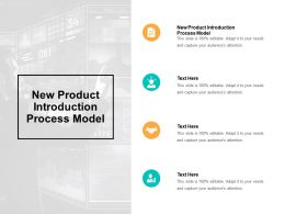 New Product Introduction Process Model Ppt Powerpoint Presentation Portfolio Cpb