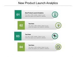 New Product Launch Analytics Ppt Powerpoint Presentation Portfolio Sample Cpb