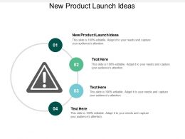 New Product Launch Ideas Ppt Powerpoint Presentation Gallery Designs Cpb