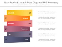 New Product Launch Plan Diagram Ppt Summary