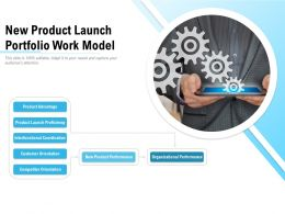 New Product Launch Portfolio Work Model
