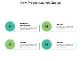 New Product Launch Quotes Ppt Powerpoint Presentation Outline Model Cpb