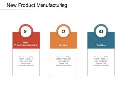 New Product Manufacturing Ppt Powerpoint Presentation Professional Clipart Cpb