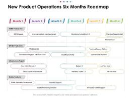 New Product Operations Six Months Roadmap
