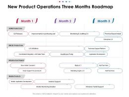 New Product Operations Three Months Roadmap