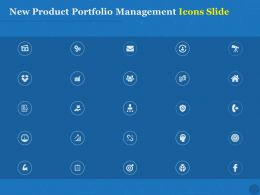 New Product Portfolio Management Icons Slide Ppt Powerpoint Slides